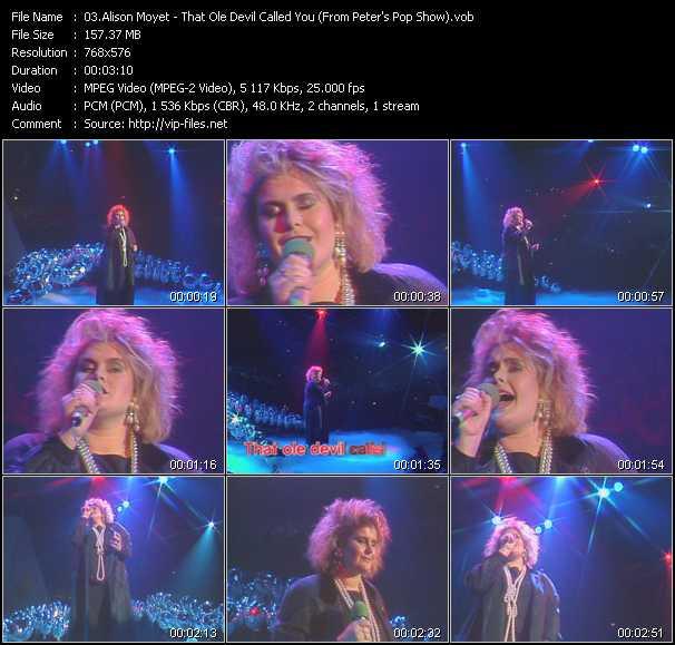 Alison Moyet video screenshot