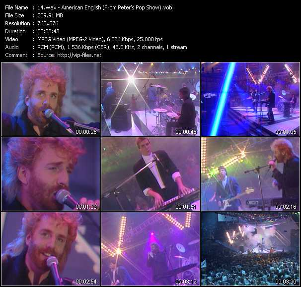 video American English (From Peter's Pop Show) screen
