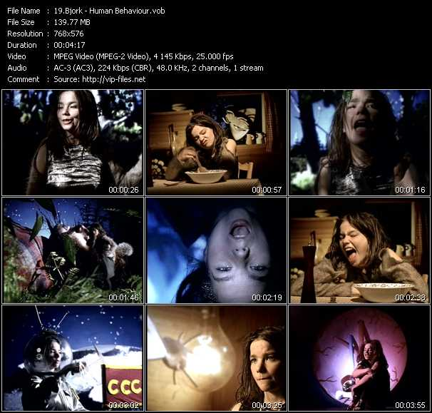 Bjork video screenshot