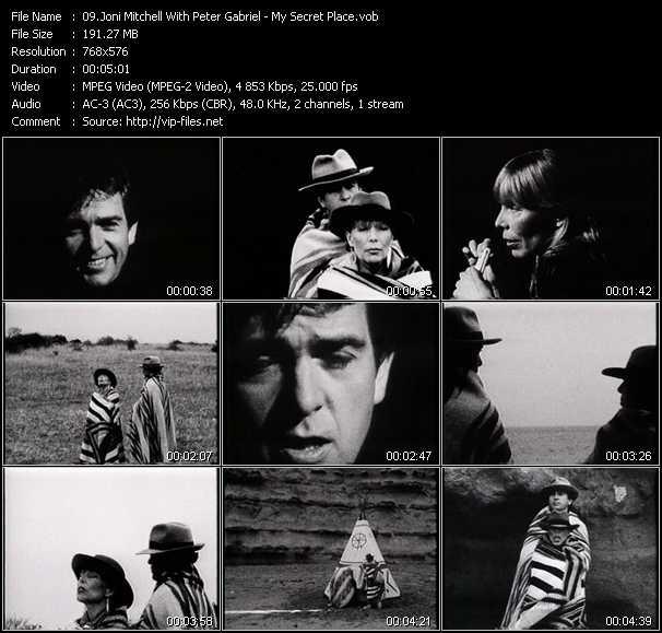 Joni Mitchell With Peter Gabriel video screenshot