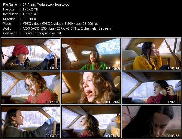 Alanis Morissette video screenshot