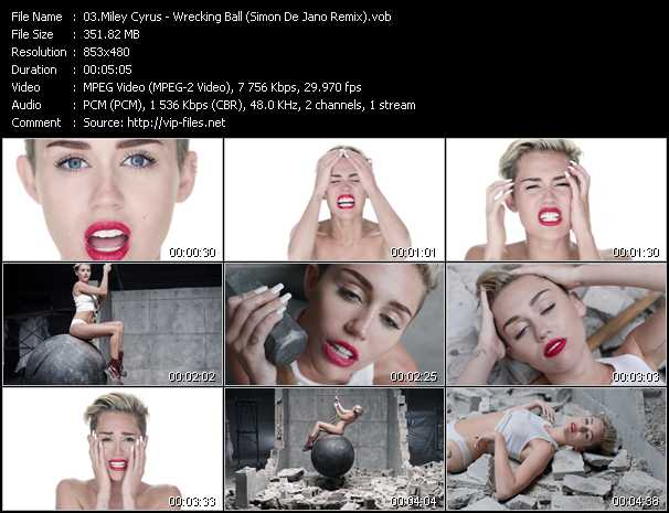 Miley Cyrus video screenshot