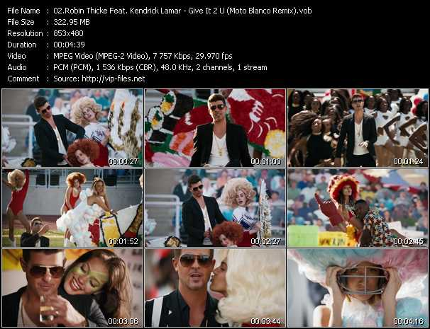 Robin Thicke Feat. Kendrick Lamar video screenshot