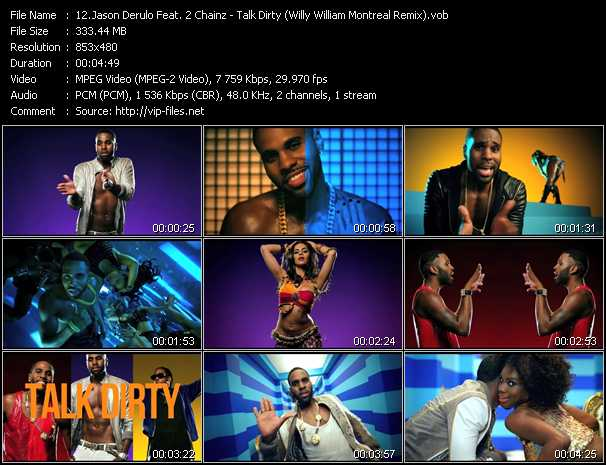 video Talk Dirty (Willy William Montreal Remix) screen