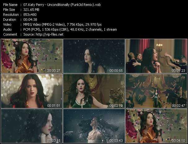video Unconditionally (Funk3d Remix) screen