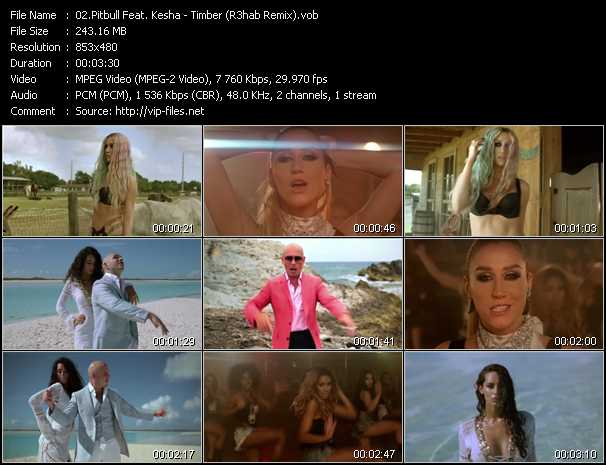 Pitbull Feat. Kesha video screenshot