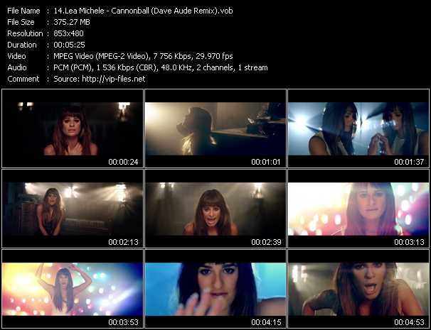 Lea Michele video screenshot
