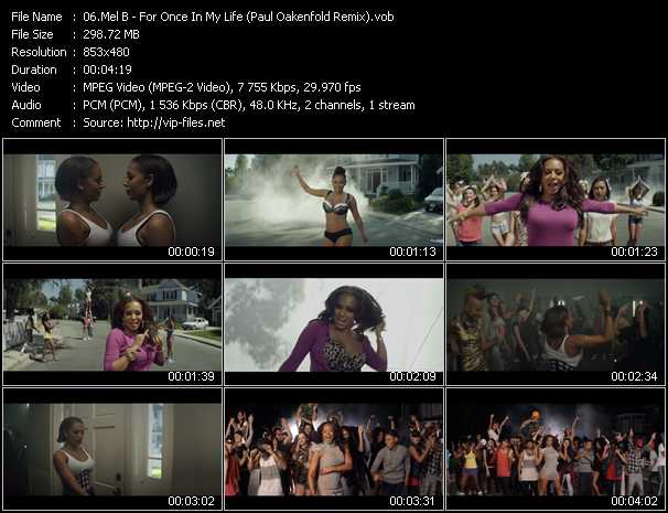 Mel B video screenshot