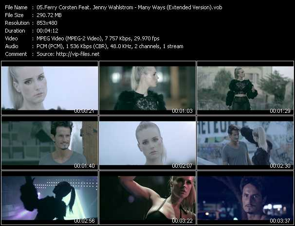 Ferry Corsten Feat. Jenny Wahlstrom video screenshot