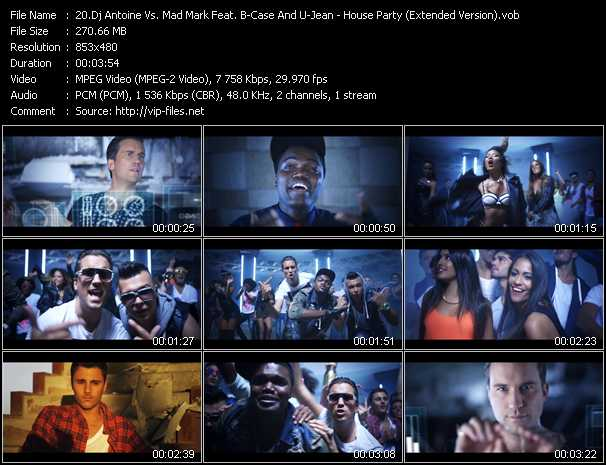 Dj Antoine Vs. Mad Mark Feat. B-Case And U-Jean video screenshot