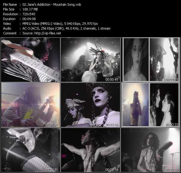 Jane's Addiction video screenshot