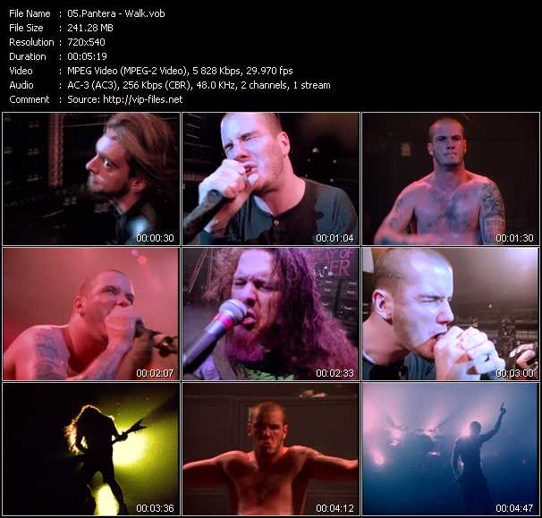 Pantera video screenshot