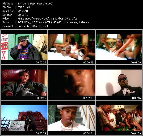 Kool G. Rap video screenshot