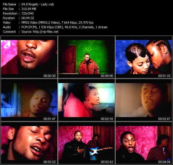 D'Angelo video screenshot