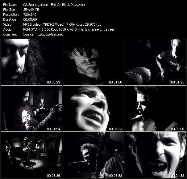 Soundgarden video screenshot