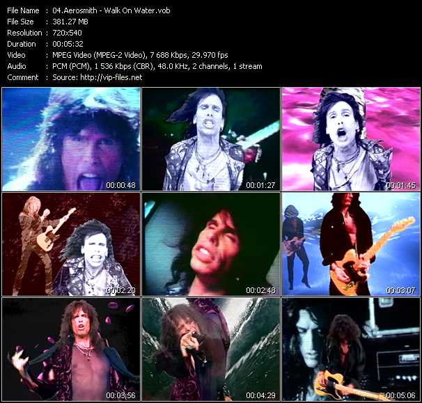Aerosmith video screenshot