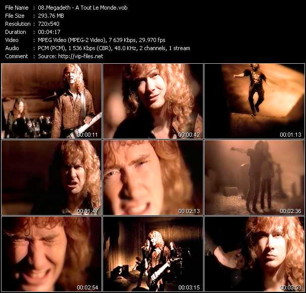 Megadeth video screenshot