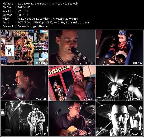 Dave Matthews Band video screenshot
