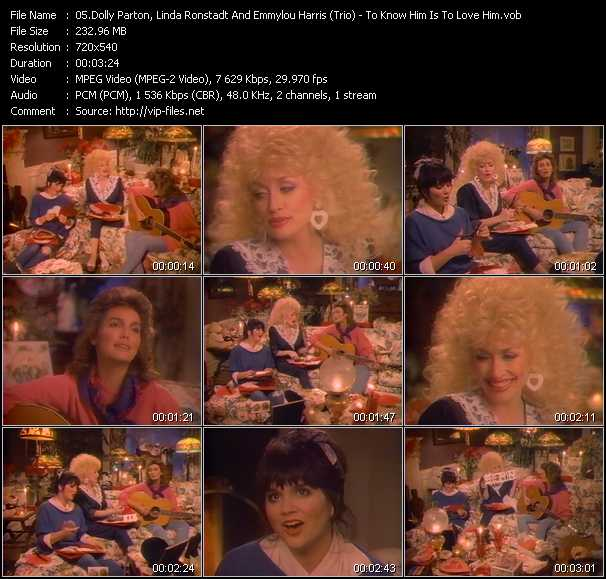Dolly Parton, Linda Ronstadt And Emmylou Harris (Trio) video screenshot