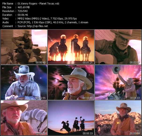 Kenny Rogers video screenshot