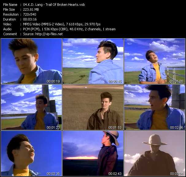 K.D. Lang video screenshot