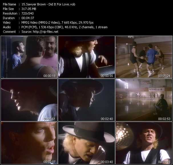 Sawyer Brown video screenshot