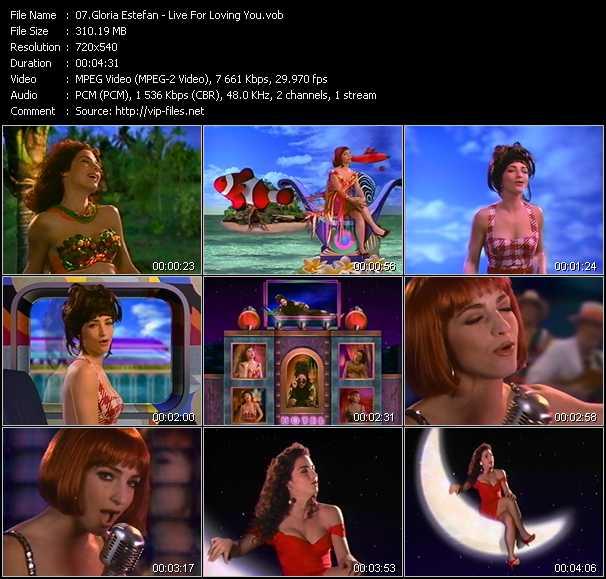 Gloria Estefan video screenshot