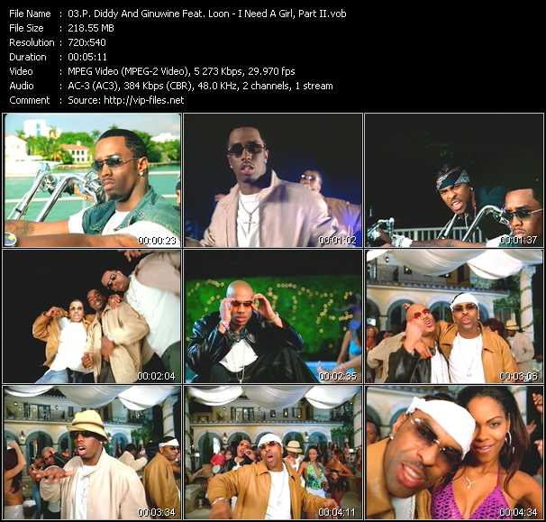 P. Diddy (Puff Daddy) And Ginuwine Feat. Loon video screenshot