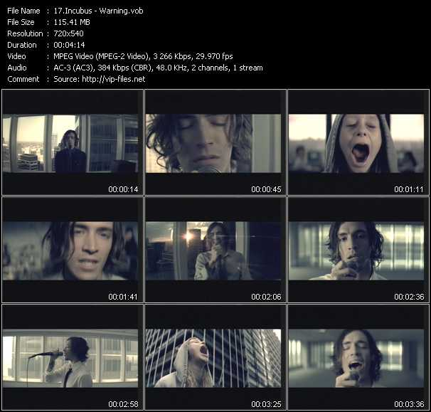 Incubus video screenshot