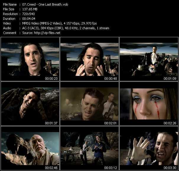 Creed video screenshot
