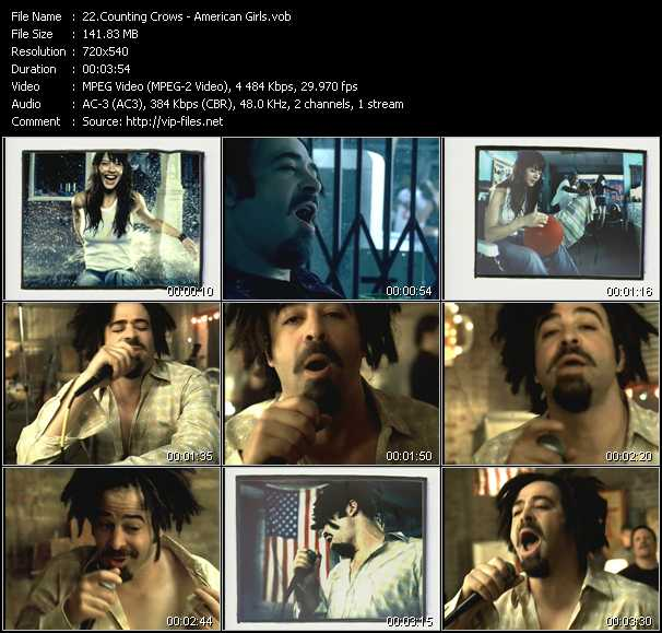 Counting Crows video screenshot