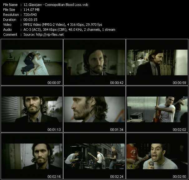Glassjaw video screenshot