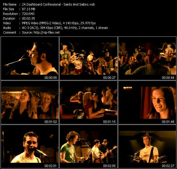 Dashboard Confessional video screenshot