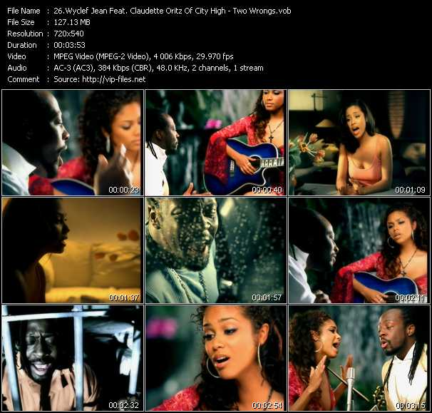 Wyclef Jean Feat. Claudette Oritz Of City High video screenshot