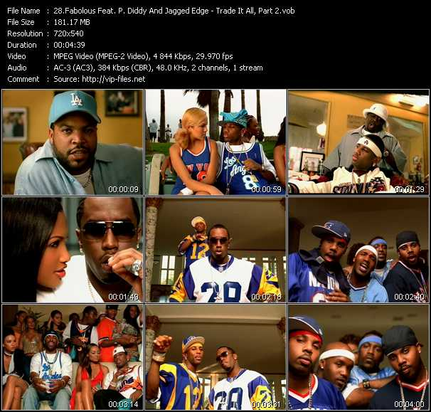 Fabolous Feat. P. Diddy (Puff Daddy) And Jagged Edge video screenshot
