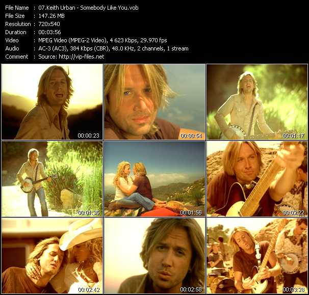Keith Urban video screenshot