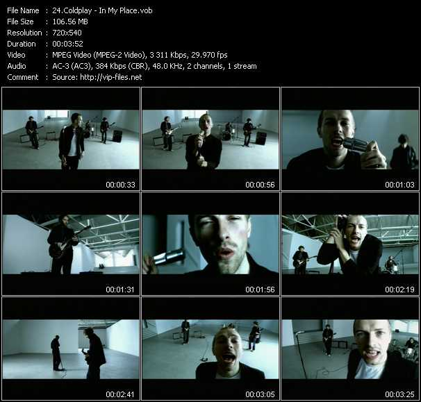 Coldplay video screenshot