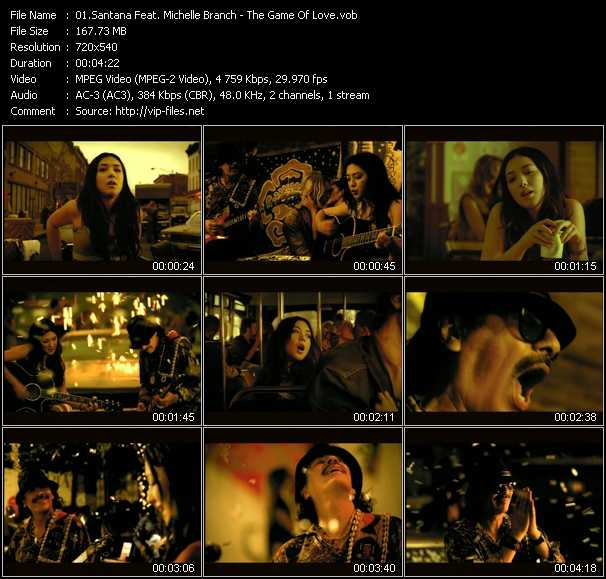 Santana Feat. Michelle Branch video screenshot