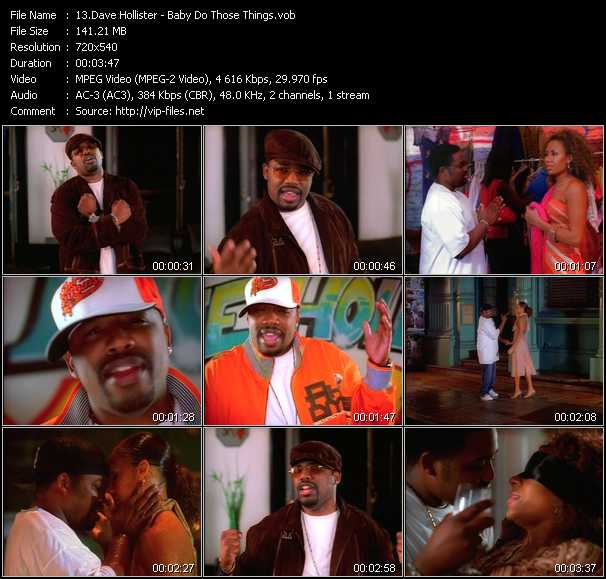 Dave Hollister video screenshot