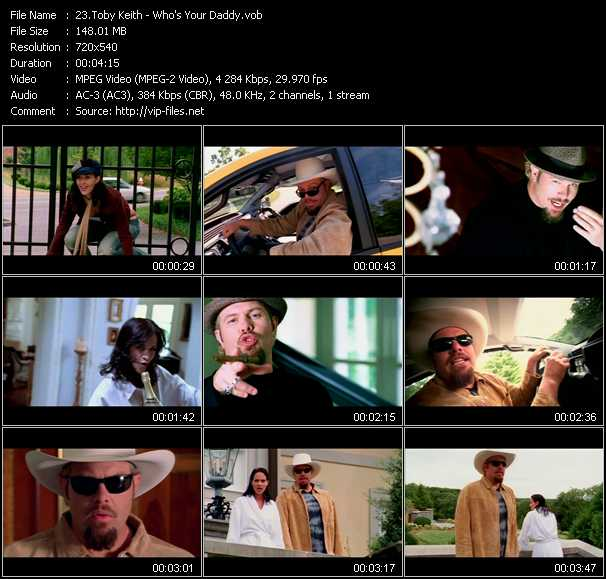 Toby Keith video screenshot