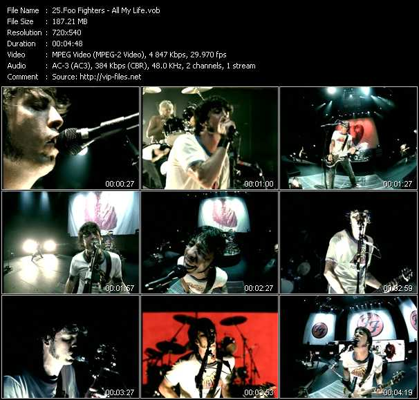Foo Fighters video screenshot