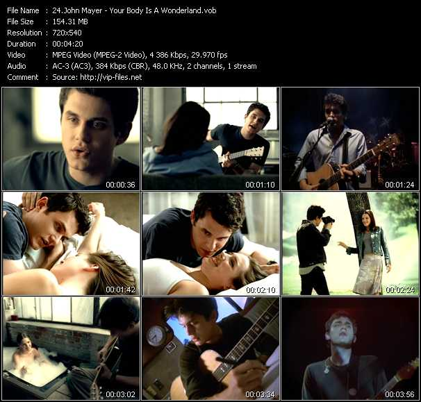 John Mayer video screenshot