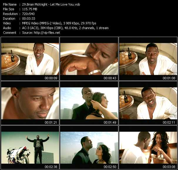 Brian McKnight video screenshot