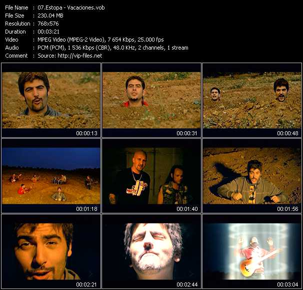 Estopa video screenshot