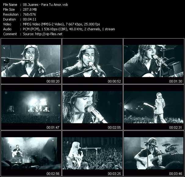 Juanes video screenshot