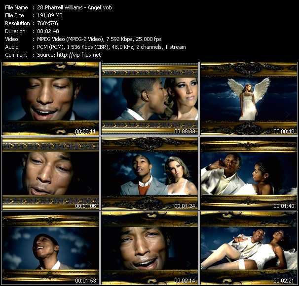 Pharrell Williams video screenshot