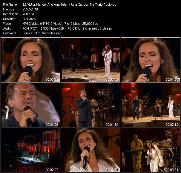 Victor Manuel And Ana Belen video screenshot