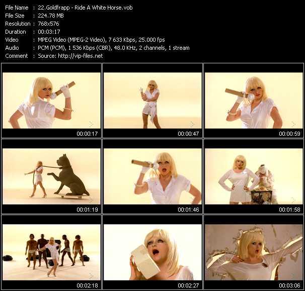 Goldfrapp video screenshot