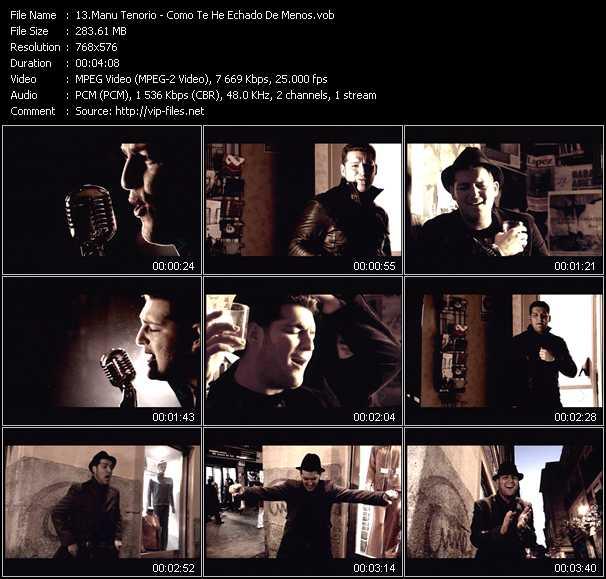 Manu Tenorio video screenshot