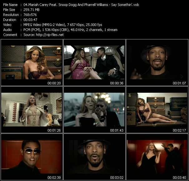 Mariah Carey Feat. Snoop Dogg And Pharrell Williams video screenshot